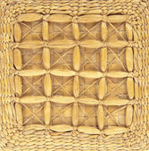 Wicker basket background — Stock Photo