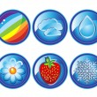 Weather icons set 2 — Stock Vector #8507934