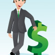 Royalty-Free Stock Vector Image: Businessman with dollar sign