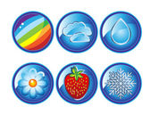 Weather icons set 2 — Stock Vector