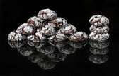 Homemade Black Forest Crinkle Cookies — Stock Photo