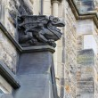 A Gothic looking gargoyle at the Parliament Building - Stock Photo