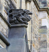 A Gothic looking gargoyle at the Parliament Building — Stock Photo