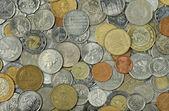 Internationale münzen — Stockfoto