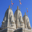 Hindu temple Shri Swaminarayan Mandir - Stock Photo