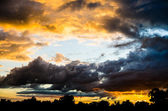 Storm with dark clouds — Stock Photo