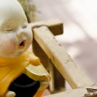 Little monk statue in Thailand temple — Stock Photo