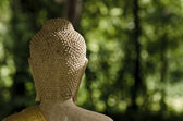 Behind buddha statue in Thailand — Stock Photo