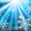 Christmas snowflakes background — Stock Vector #10015685