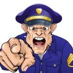 Angry policeman — Stock Vector #10100961