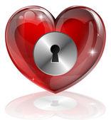 Heart lock — Stock Vector