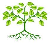 Stylised tree design — Stock Vector