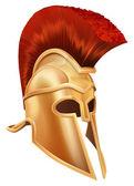 Trojan Helmet — Stock Vector