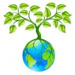 planety ziemi glob z trzech koncepcji — Wektor stockowy