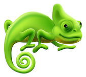 Cute Chameleon Illustration — Stock Vector