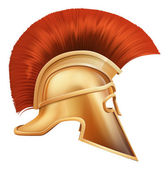 Spartan helmet illustration — Stock Vector