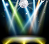 Disco ball dance floor — Stock Vector
