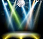 Disco ball dance floor — Stock Vector