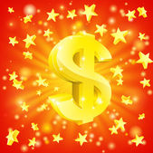 Dolar peníze hvězda koncepce — Stock vektor