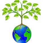 World globe tree — Stock Vector