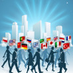 International business concept — Stock Vector