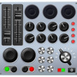 Mixing or control console — Stockvectorbeeld
