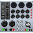 Mixing or control console - Stock Vector