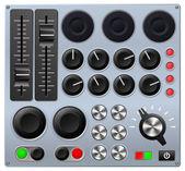 Console di mixaggio o controllo — Vettoriale Stock