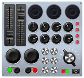 Mixing or control console — Vector de stock