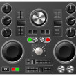 Stock Vector: Sound board or studio controls