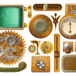 Victorian Steampunk design elements - Vettoriali Stock
