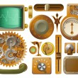 Victorian Steampunk design elements - Stock vektor