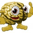 Vettoriale Stock : Brain cartoon character illustration