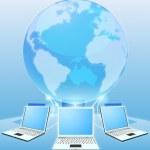 Computer network world concept — Stock Vector
