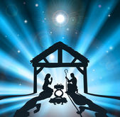 The Christmas Nativity — Stock Vector