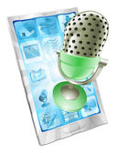 Microphone phone app concept — Stock Vector