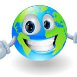 Happy cute globe character — Stock Vector #8854121