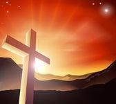 Easter cross concept — Stock Vector