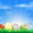 Bright Easter eggs background — Stock Vector