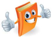 Thumbs up book cartoon character — Stock Vector