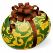 Luxury Ornate Easter Egg With Bow — 图库矢量图片