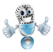 Microphone cartoon character — Stock Vector
