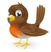 χαριτωμένο κινούμενα robin εικονογράφηση — Διανυσματικό Αρχείο