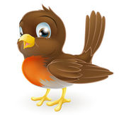 Ilustração de robin bonito dos desenhos animados — Vetorial Stock