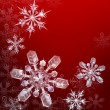Red Christmas snowflake background — Stock Vector