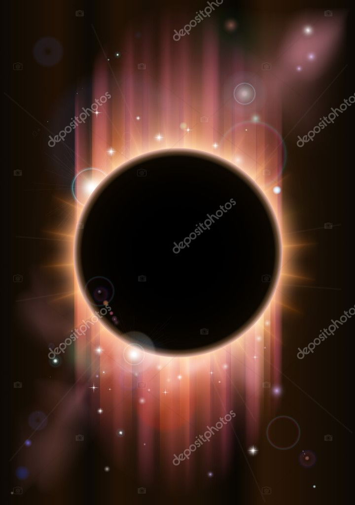 A futuristic ascience fiction eclipse background concept — Stock Vector #9407452