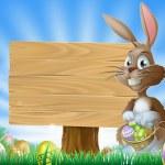 Easter bunny rabbit background — Stock Vector