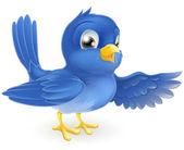 Bluebird pointing — Stock Vector
