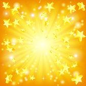 爆発する星の背景 — ストックベクタ