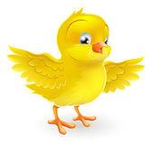 可爱快乐黄色复活节的小妞 — 图库矢量图片